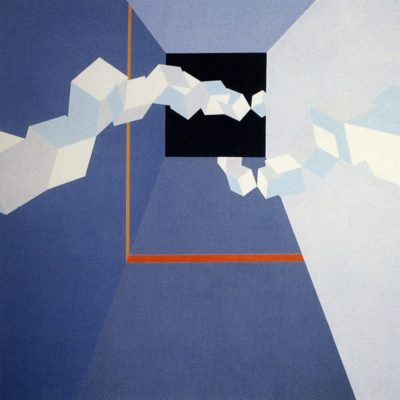 Super Vision, 1973 Oil On Canvas 7' X 7' (213 X 213 Cm)