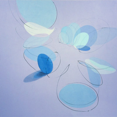 Blues, 2003 Acrylic On Canvas, 60″ X 60″ (152.5 X 152.5 Cm)