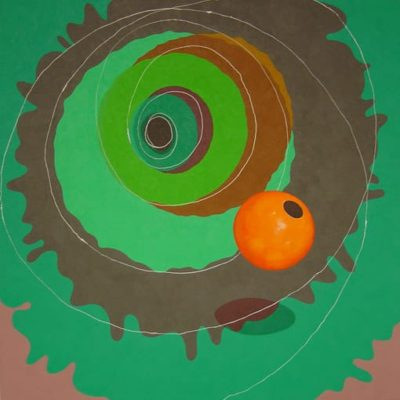 Orange's Born, 2004 Acrylic On Canvas, 48″ X 48″  (122 X 122 Cm)