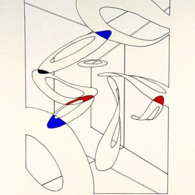 "Cloud Dance, 1988 Silk Screen 11.5"" X 8.5"" (29 X 21.5 Cm)"