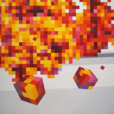 Autumn In NY, 2001 Acrylic On Canvas 6′ X 7′ (183 X 213 Cm)