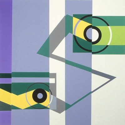 Transfer, 1968 Oil On Canvas / Silk Screen 15″1/2 X 15″1/2 (39 X 39 Cm)