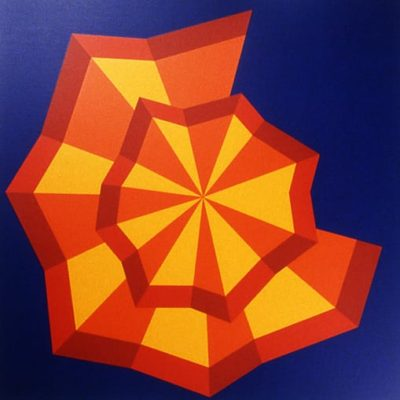 Tropical Whirl, 1970 Oil On Canvas / Silk Screen 15″1/2 X 15″1/2 (39 X 39 Cm)