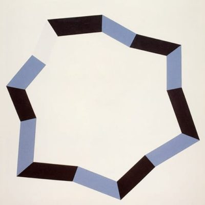 Non-Titled, 1970 Oil On Canvas / Silk Screen 15″1/2 X 15″1/2 (39 X 39 Cm)