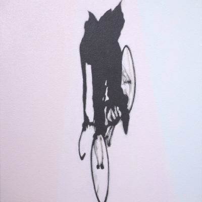 A Man On The Bicycle II, 2016 Acrylic On Canvas, 18″ X 16″ (46 X 40.5 Cm)